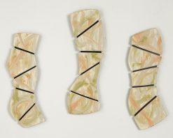 Tropical Triptych by Kristi Sloniger (Ceramic Wall Sculpture) | American Artwork