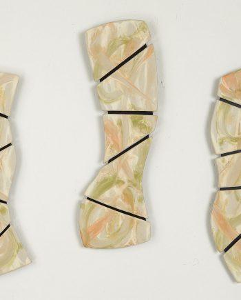 Tropical Triptych by Kristi Sloniger (Ceramic Wall Sculpture) | American Artwork