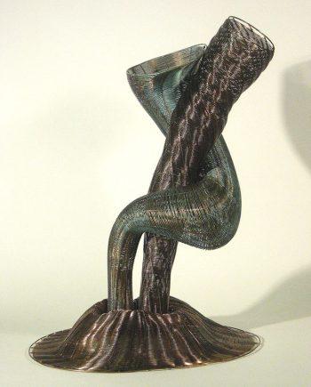 Adam and Eve by Virginia Harrison (Woven Bronze Sculpture) | American Artwork