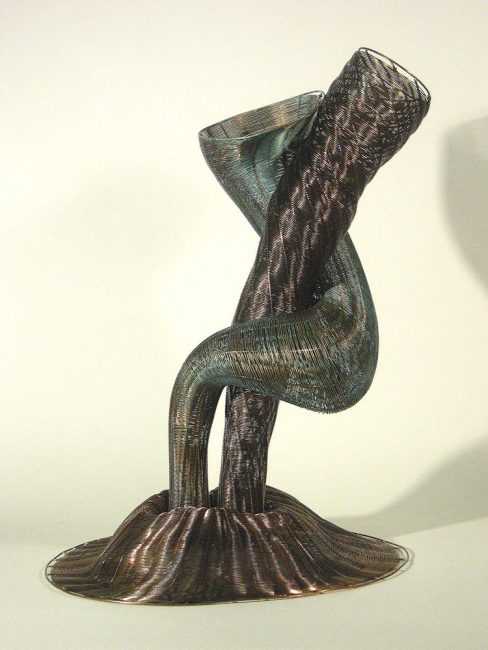 Adam and Eve by Virginia Harrison (Woven Bronze Sculpture) | American Artwork