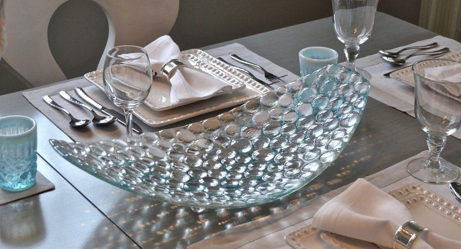 Bubble Platter by Bonnie Rubenstein (Art Glass Platter) | American Artwork