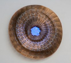 Diamond Rock by Virginia Harrison (Woven Bronze Sculpture) | American Artwork