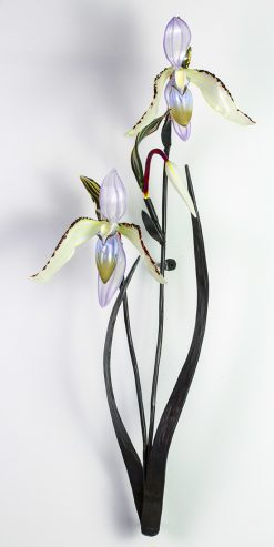 Double Lady Slipper by Loy Allen (Art Glass Sculpture) | American Artwork