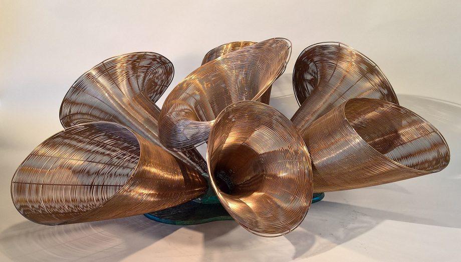 Fanfare by Virginia Harrison (Woven Bronze Sculpture)   American Artwork