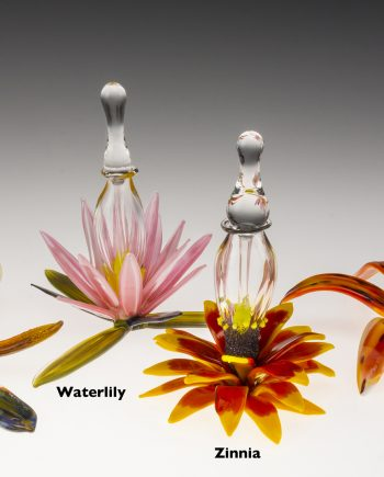 Floral Bottle (Group) by Loy Allen (Art Glass Perfume Bottle) | American Artwork
