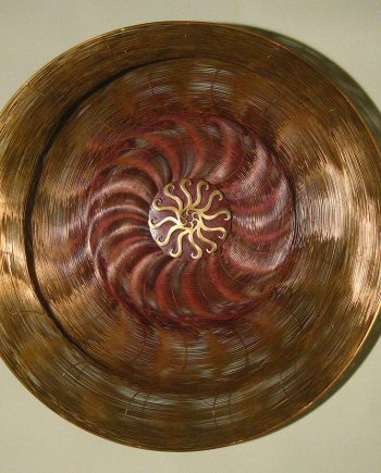 Mandala by Virginia Harrison (Woven Bronze Sculpture) | American Artwork
