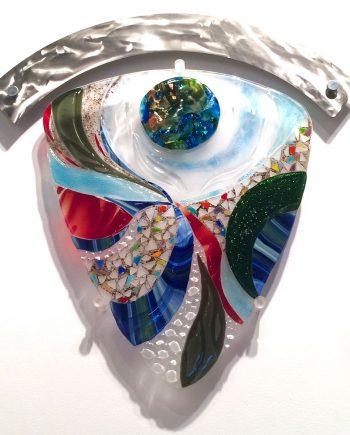 Odyssey by Bonnie Rubenstein (Art Glass Wall Sculpture) | American Artwork