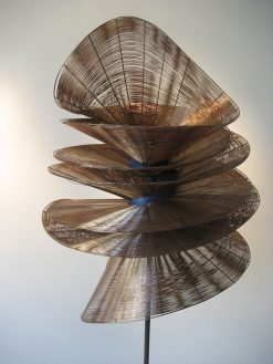 Ouroboros by Virginia Harrison (Woven Bronze Sculpture) | American Artwork