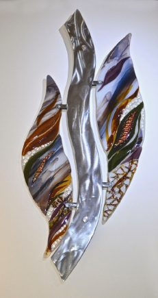 Partners by Bonnie Rubenstein (Art Glass Wall Sculpture) | American Artwork
