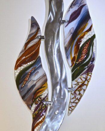 Partners by Bonnie Rubenstein (Art Glass Wall Sculpture) | American Artwork