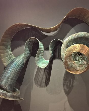 Tempest Storms by Virginia Harrison (Woven Bronze Sculpture) | American Artwork