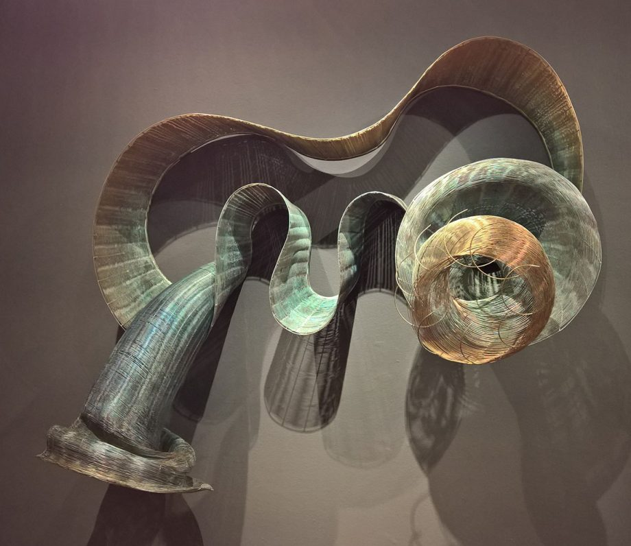 Tempest Storms by Virginia Harrison (Woven Bronze Sculpture) | American Artwork