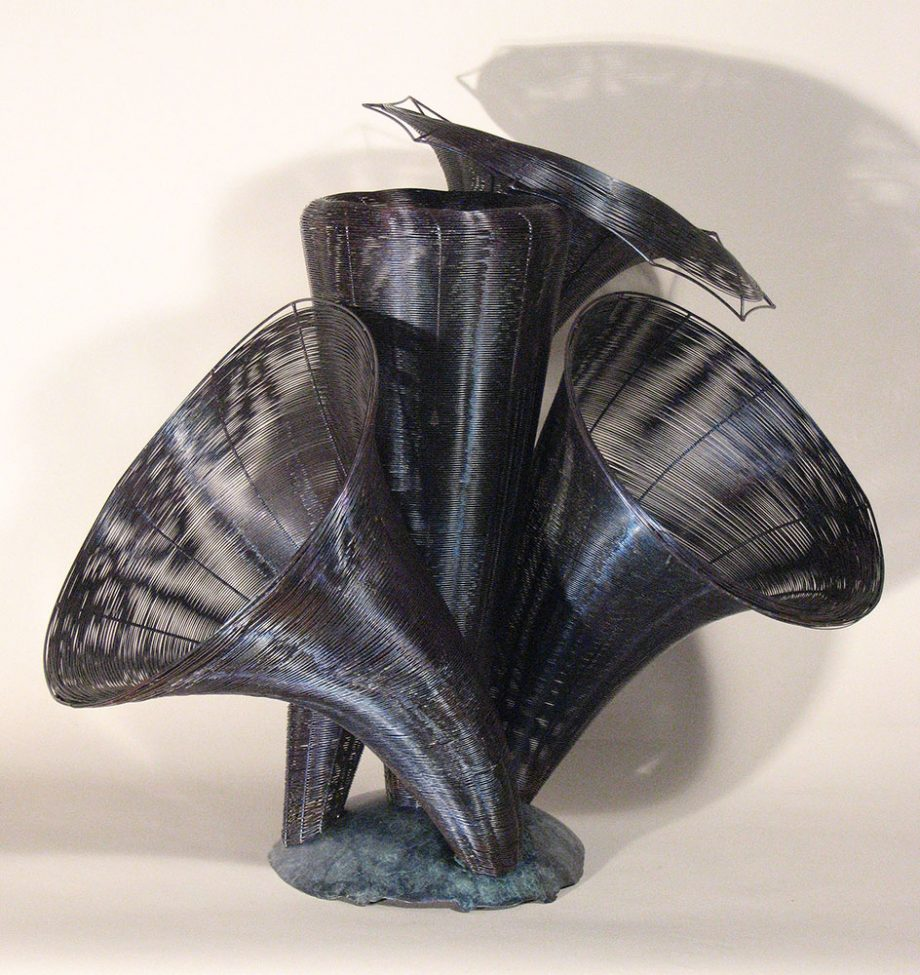 Tower of the Winds by Virginia Harrison (Woven Bronze Sculpture) | American Artwork