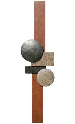 Metal Wall Sculpture by Bowman Studiowp 08.18 15×55 17# $3300 retail dmbstudio 13jun08