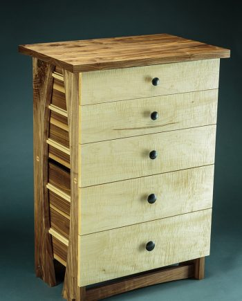 85 lb. Dresser by Todd Bradlee (Hand-built Wooden Dresser) | American Artwork