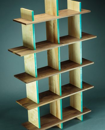90 lb. Bookshelf by Todd Bradlee (Hand-built Wooden Bookshelf ) | American Artwork