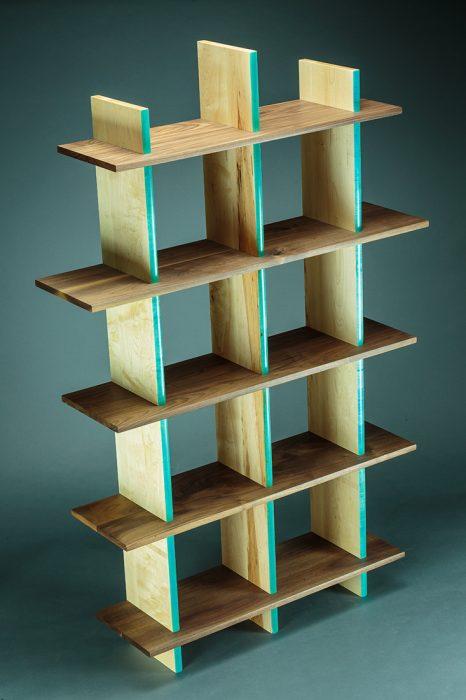 90 lb. Bookshelf by Todd Bradlee (Hand-built Wooden Bookshelf ) | American Artwork