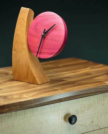 Adjustable Desk Clock by Todd Bradlee (Hand-built Wooden Clock) | American Artwork