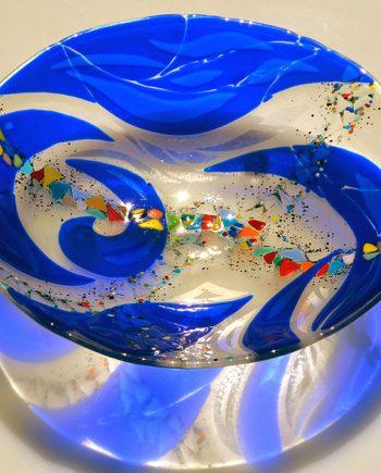 Cobalt Serving Bowl by Bonnie Rubenstein (Art Glass Bowl) | American Artwork
