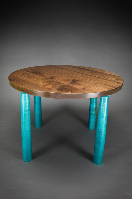 Circle Table by Todd Bradlee (Hand-built Wooden Table) | American Artwork