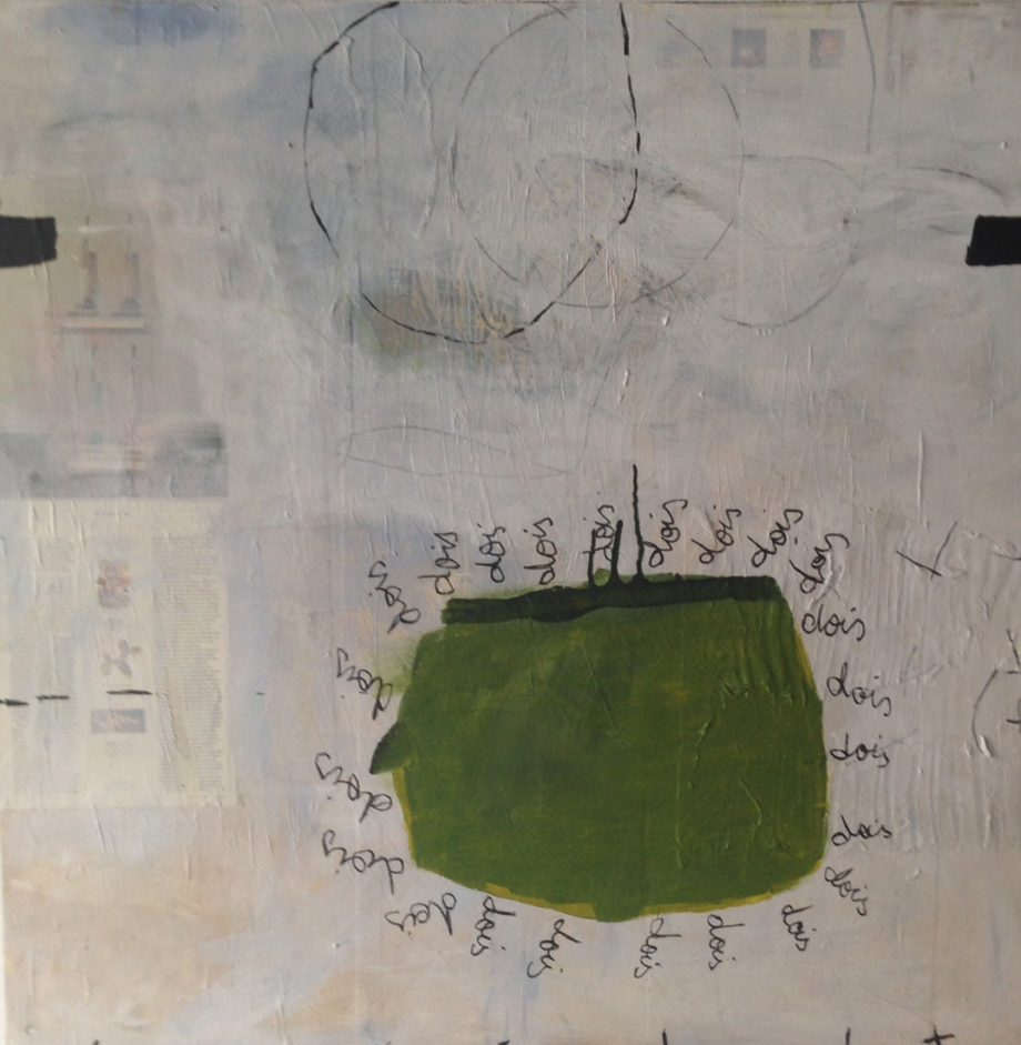 Dois by Silvia Poloto (Abstract Mixed Media Painting) | American Artwork