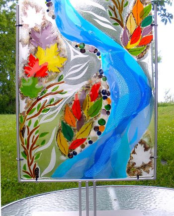 Fall Tribute by Bonnie Rubenstein (Art Glass Sculpture) | American Artwork