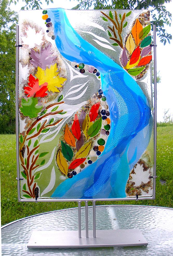 Fall Tribute by Bonnie Rubenstein (Art Glass Sculpture) | American Artwork
