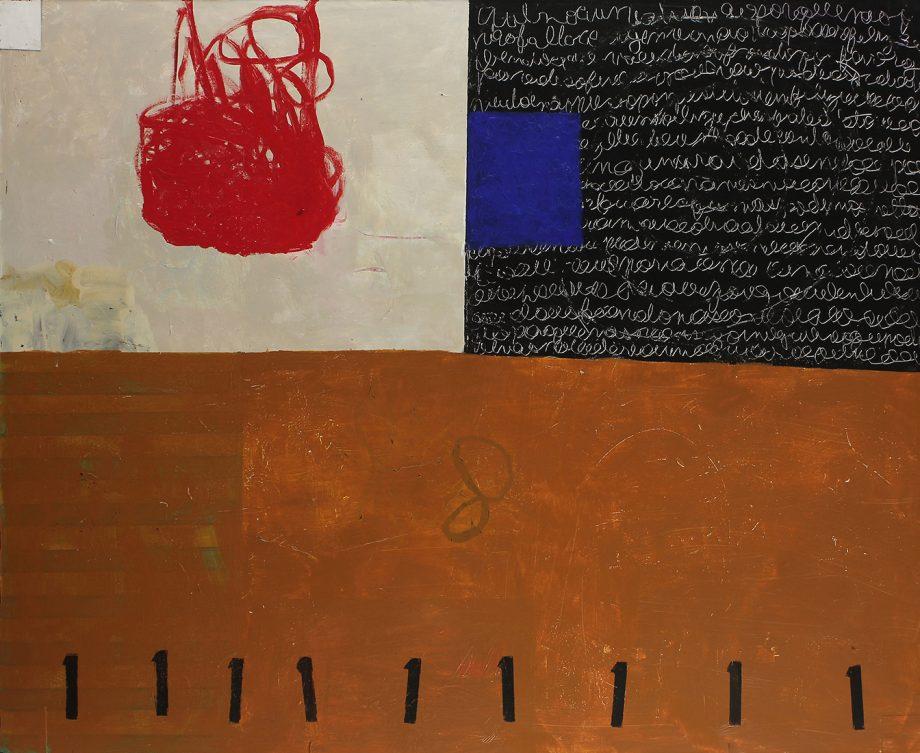 King of Hearts by Silvia Poloto (Abstract Mixed Media Painting) | American Artwork