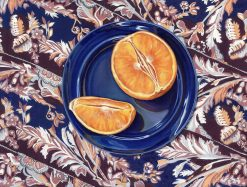 Orange on Plate by Rebecca Gabriel (Giclée Print on Canvas) | American Artwork