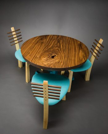 Pedestal table by Todd Bradlee (Hand-built Wooden Table) | American Artwork