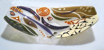 Serving Platter by Bonnie Rubenstein (Art Glass Platter) | American Artwork