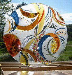 Sheer Inspiration I by Bonnie Rubenstein (Art Glass Wall Sculpture) | American Artwork