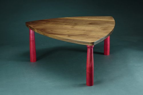 Triangle Coffee Table by Todd Bradlee (Hand-built Wooden Coffee Table) | American Artwork