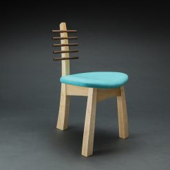 Tripod Chair 2017 by Todd Bradlee (Hand-built Wooden Chair ) | American Artwork