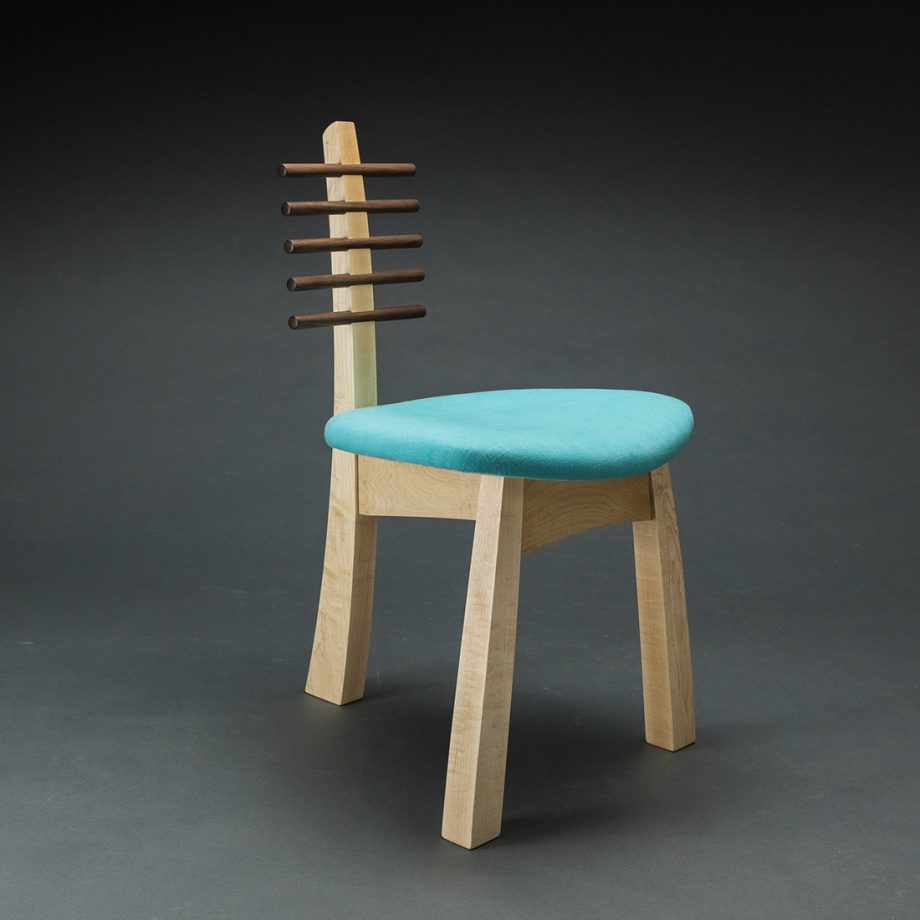Tripod Chair 2017 by Todd Bradlee (Hand-built Wooden Chair )   American Artwork