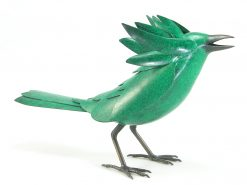 Bird in the Hand - Green by Charles McBride White (Bronze Sculpture) | American Artwork