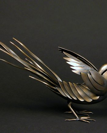 Frolicking Magpie by Charles McBride White (Bronze Sculpture) | American Artwork