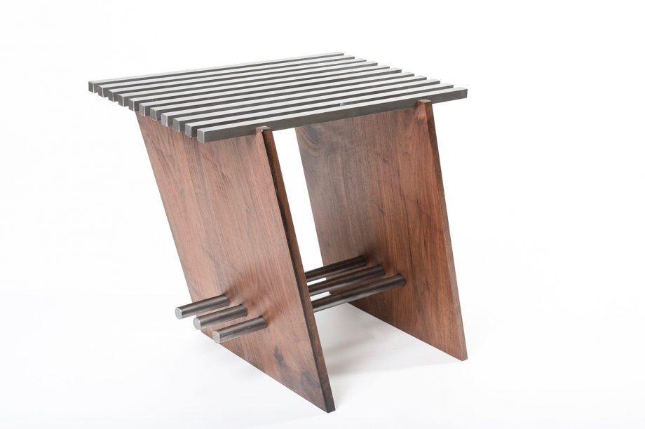 Locksaw Side Table by Wes Walsworth (Custom Furniture) | American Artwork