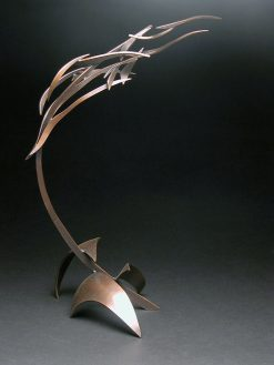 Organic with Bird 42 by Charles McBride White (Bronze Sculpture) | American Artwork