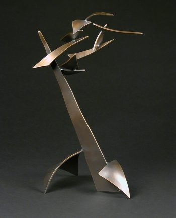 Organic with Bird 48 by Charles McBride White (Bronze Sculpture) | American Artwork
