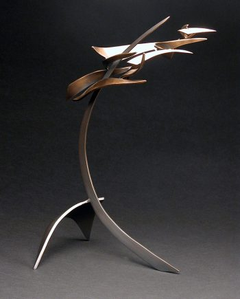 Organics in Motion 1 by Charles McBride White (Bronze Sculpture) | American Artwork