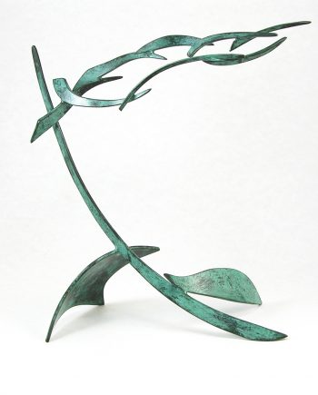 Organics in Motion 2 by Charles McBride White (Bronze Sculpture) | American Artwork