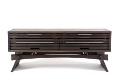 Stratus Media Console Dark Walnut by Wes Walsworth (Custom Furniture) | American Artwork