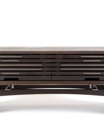 Stratus Media Console Dark Walnut by Wes Walsworth (Custom Furniture) | American Artwork