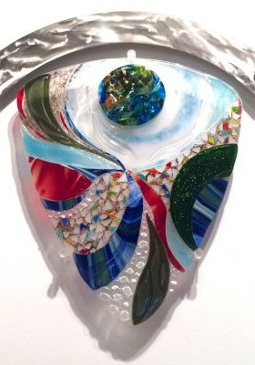 Odyssey by Bonnie Rubenstein (Art Glass Wall Sculpture) | American Artwork